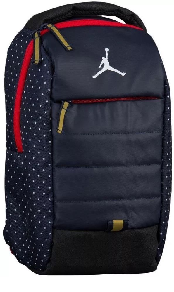 4dca8ddf6202 Nike Jordan All World Mini Backpack 7A1828 695 Olympic USA Blue Rare Read  Size  Nike  Backpack