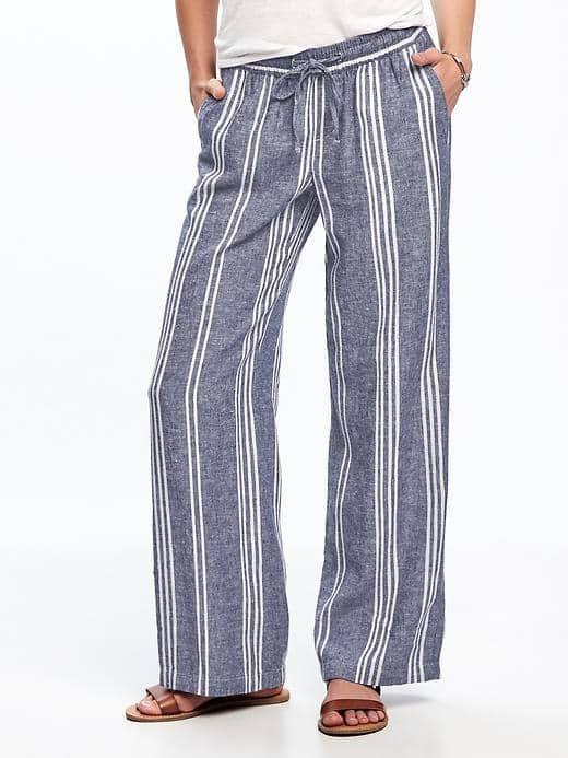 830a8deeb915 Wide-Leg Linen-Blend Pants for Women | A girl programmed to desire ...