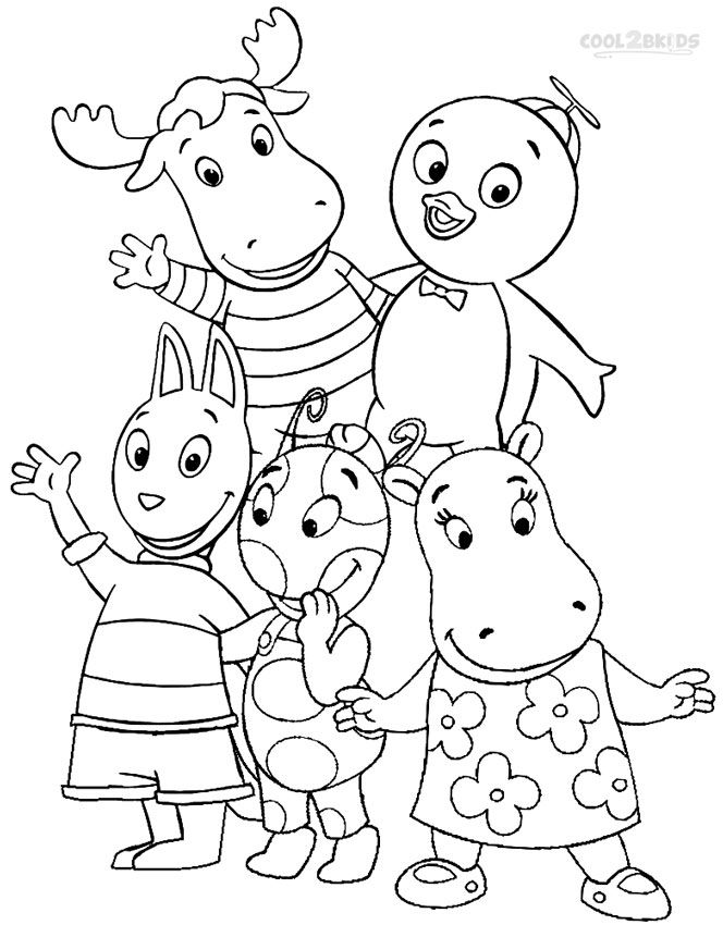 Printable Backyardigans Coloring Pages For Kids | Cool2bKids | Rock ...