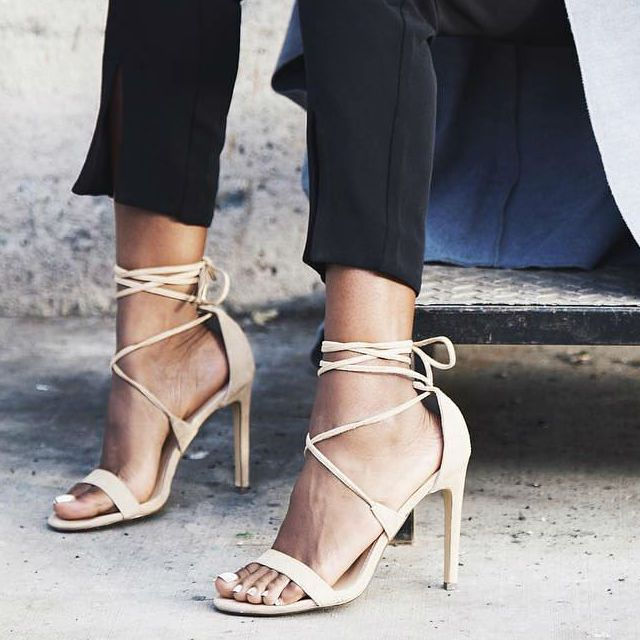 Steve Madden Leg Wrap Lace up Heels