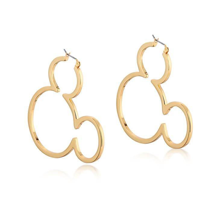 91a75164863b2 Disney Mickey Mouse Outline Hoop Earrings in 2019 | My Closet ...