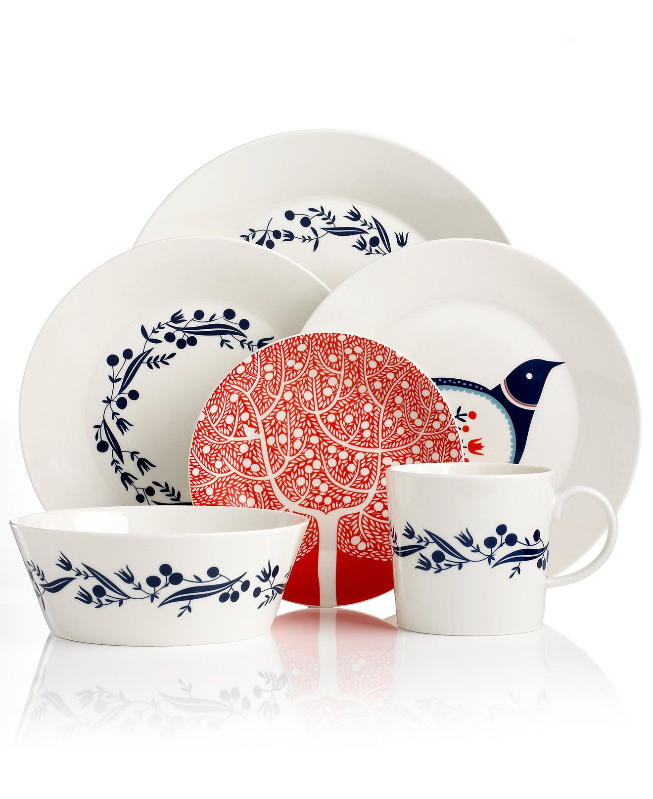 Royal Doulton Dinnerware Fable Garland Collection - Casual Dinnerware - Dining \u0026 Entertaining - Macy\u0027s  sc 1 st  Pinterest & Royal Doulton Dinnerware Fable Garland Collection - Casual ...