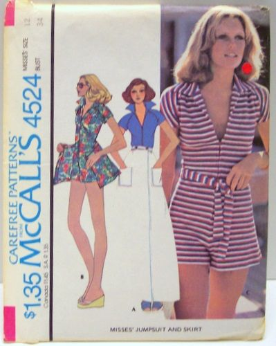 vintage mccalls sewing pattern 4524 uncut and factory folded short