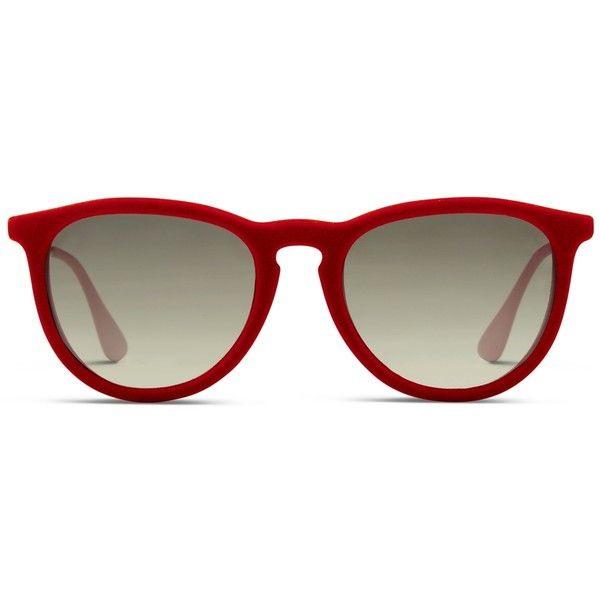 7fda55461a Ray-Ban 4171 Erika Velvet Red ( 125) ❤ liked on Polyvore featuring  accessories