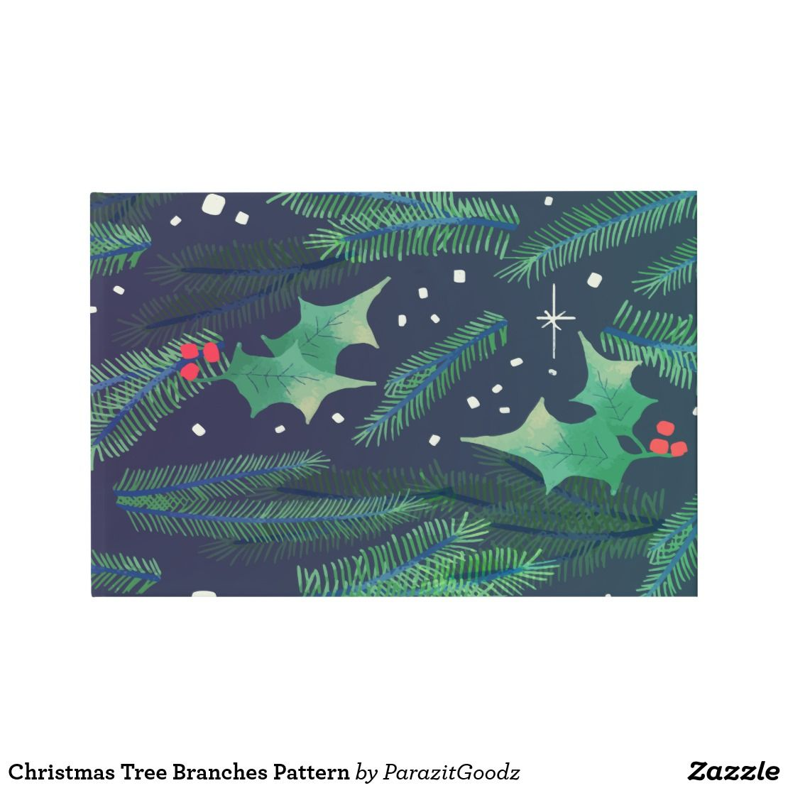 Welcome to unique Christmas with this tree branches mistletoe pattern design for special party gift or accessory