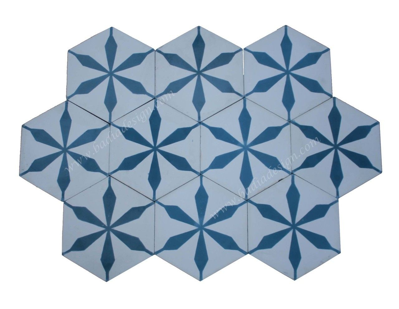 Badia Design Inc Store - Hexagon Shaped Moroccan Cement Tile - CT096 ...