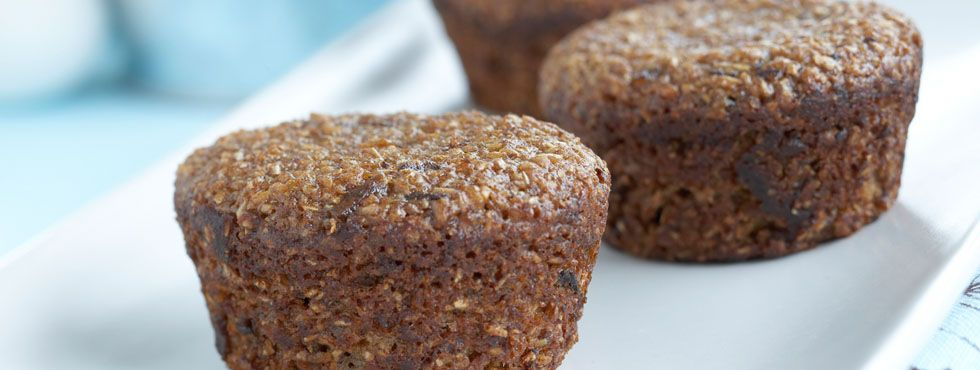 Date Bran Muffins | With sweet, plump dates and natural bran, these delicious muffins will bring a little extra sunshine to your mornings.