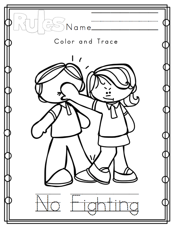 preschool good manners coloring pages - photo#14