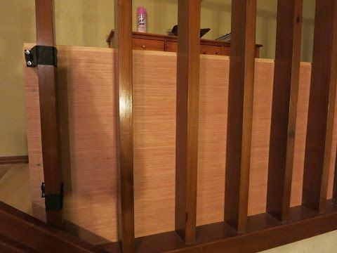Babyproof stair railing gap - baby proofing cover banister ...