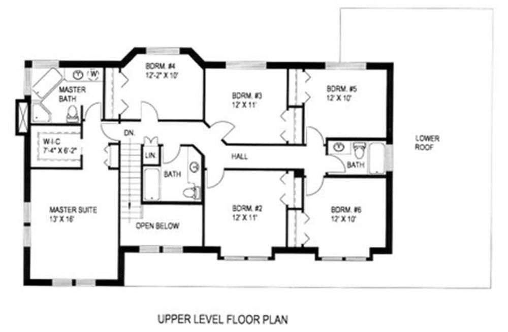 Large Images For House Plan 132 1308 Floor Plans House Plans 6 Bedroom House Plans