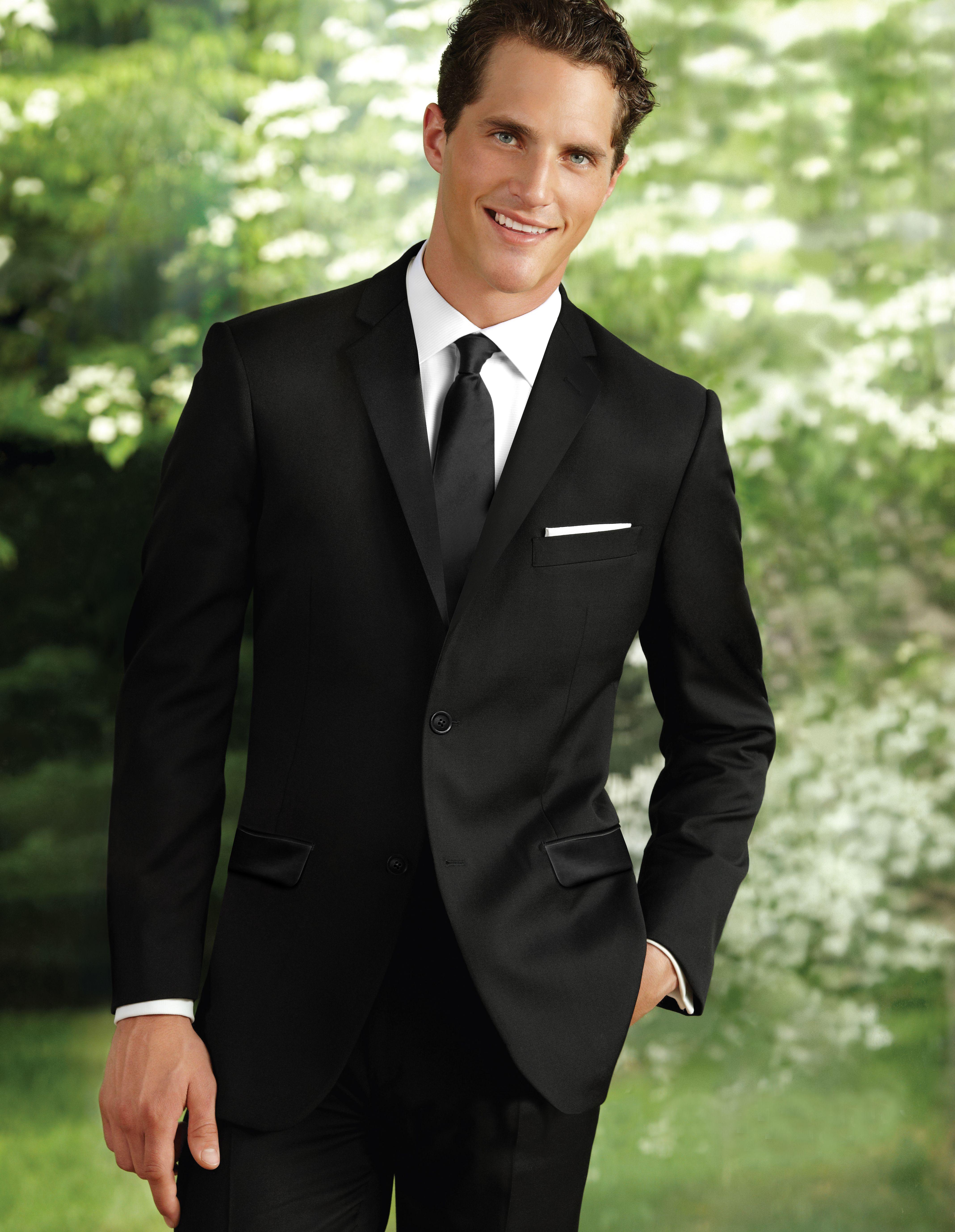 Black 2 Button Notch Suit