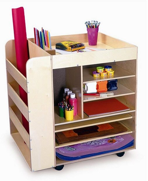 Folding art storage for kids kids art supplies organizer - Art desk with storage organization ...