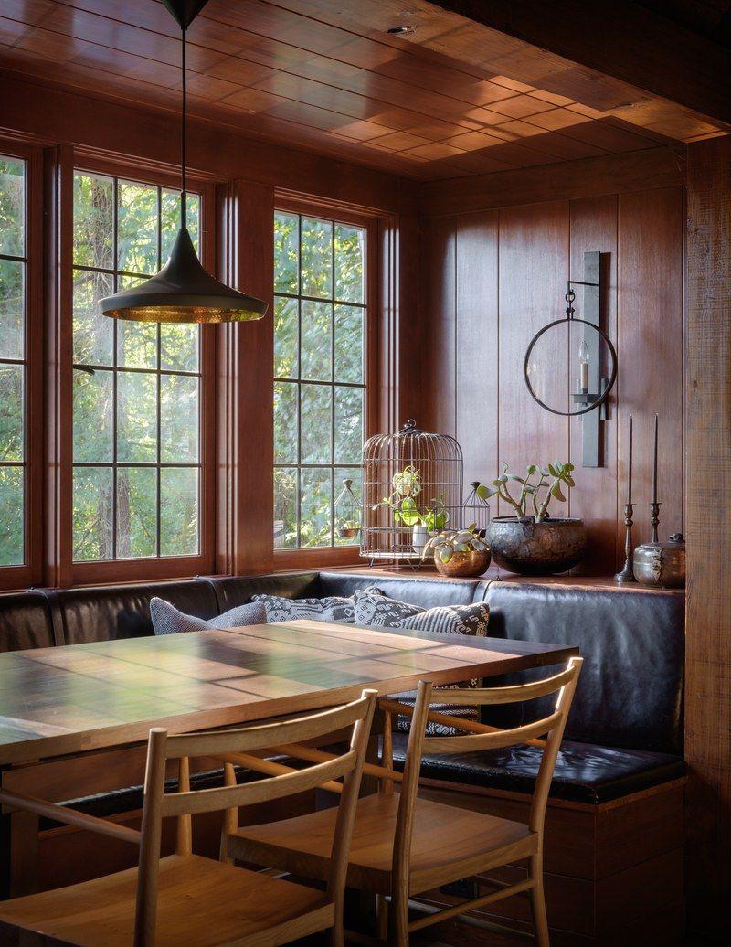 Go Inside A Historic Portland Tudor That S Surprisingly Modern Dining Room Lighting Nook