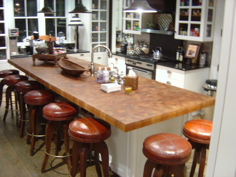 Custom Teak Butcher Block Countertops In New York New York With Images Butcher Block Countertops Butcher Block Island Kitchen Countertops