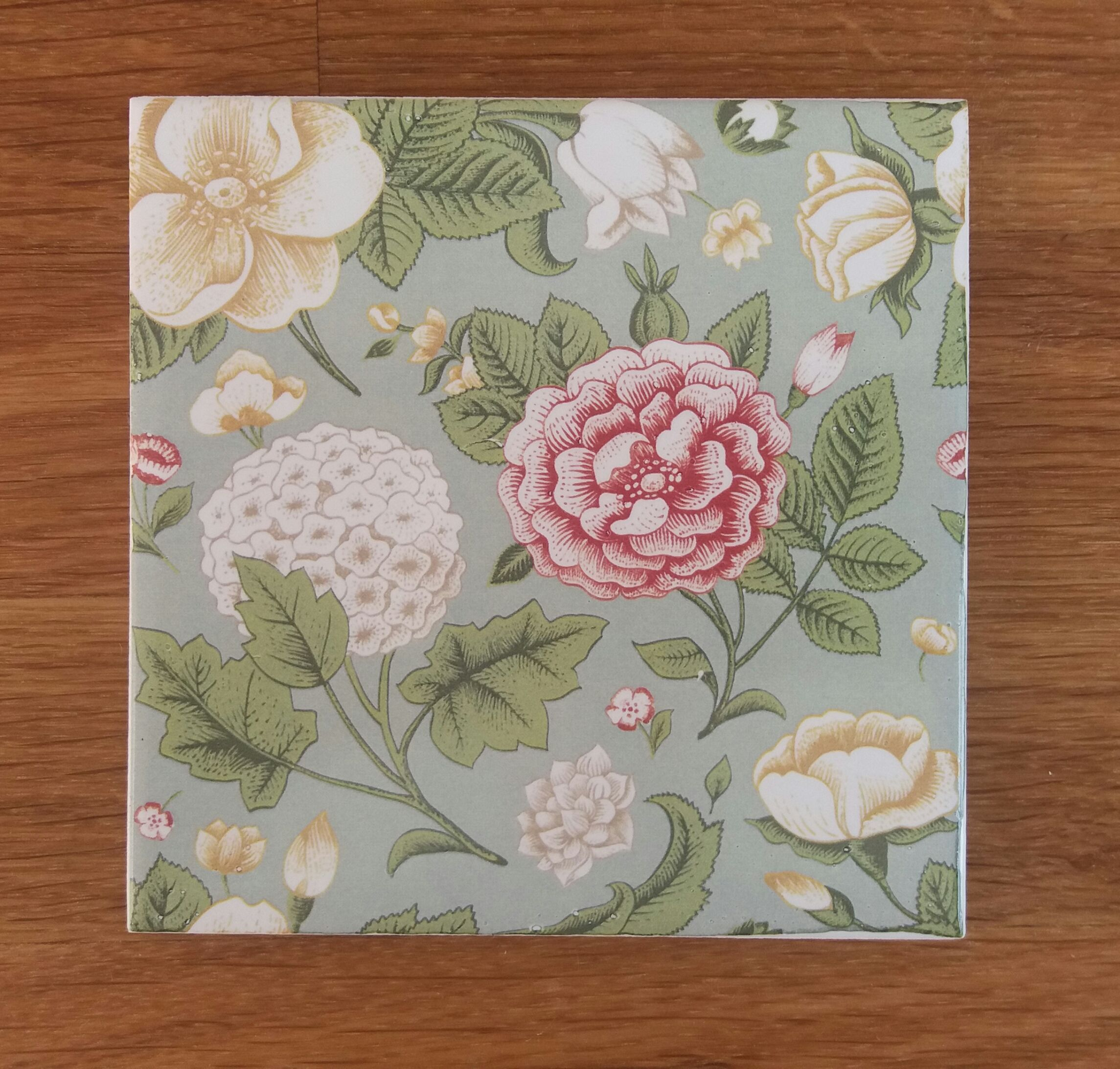 Vintage style patterned ceramic wall tile by floral tiles use vintage style patterned ceramic wall tile by floral tiles use several to create a larger dailygadgetfo Image collections