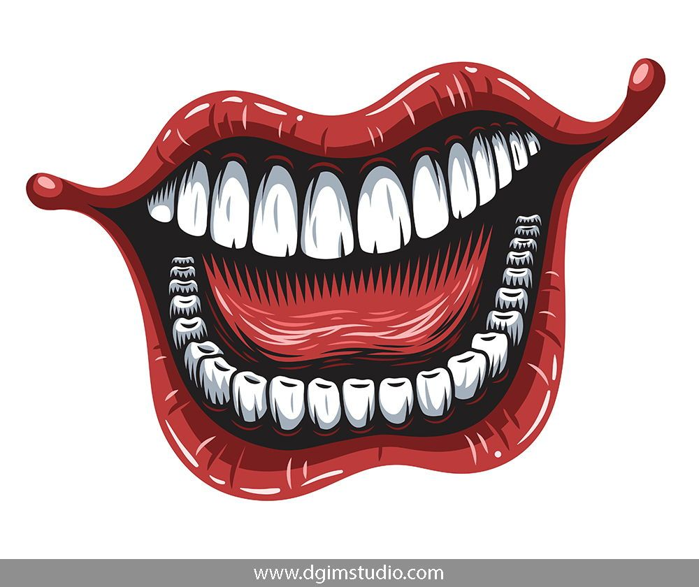 Colorful Woman Open Mouth With White Teeth And Tongue Click To The Link To Find More Apparel Designs Vector Mouth Drawing Joker Mouth Joker Iphone Wallpaper