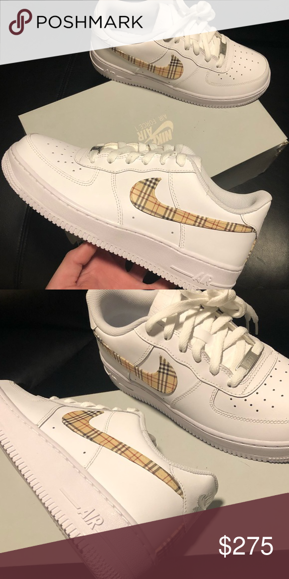 Nike Air Force 1 Custom 'Plaids 2' Available in all | Etsy