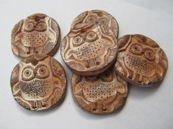Love these ceramic owl pendants made by TikiShack on Etsy.
