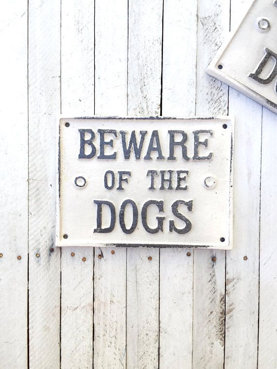 Beware of Dog Sign, Metal Dog Sign, Dog Lover, Pet, Gift for Mom, Anthropologie Style, Large Dog Sign