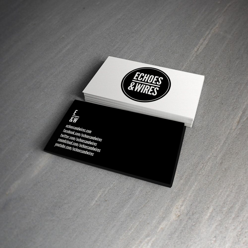 Branded business cards for music band echoes and wires business branded business cards for music band echoes and wires colourmoves