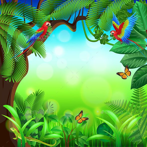 Jungle Background Stock Vector Illustration And Royalty Free Jungle  Background Clipart