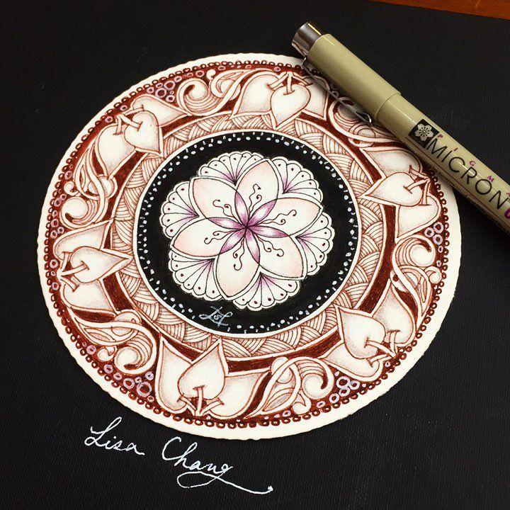 #zendala #mandala #art #artist #flowers #colorful #drawing #