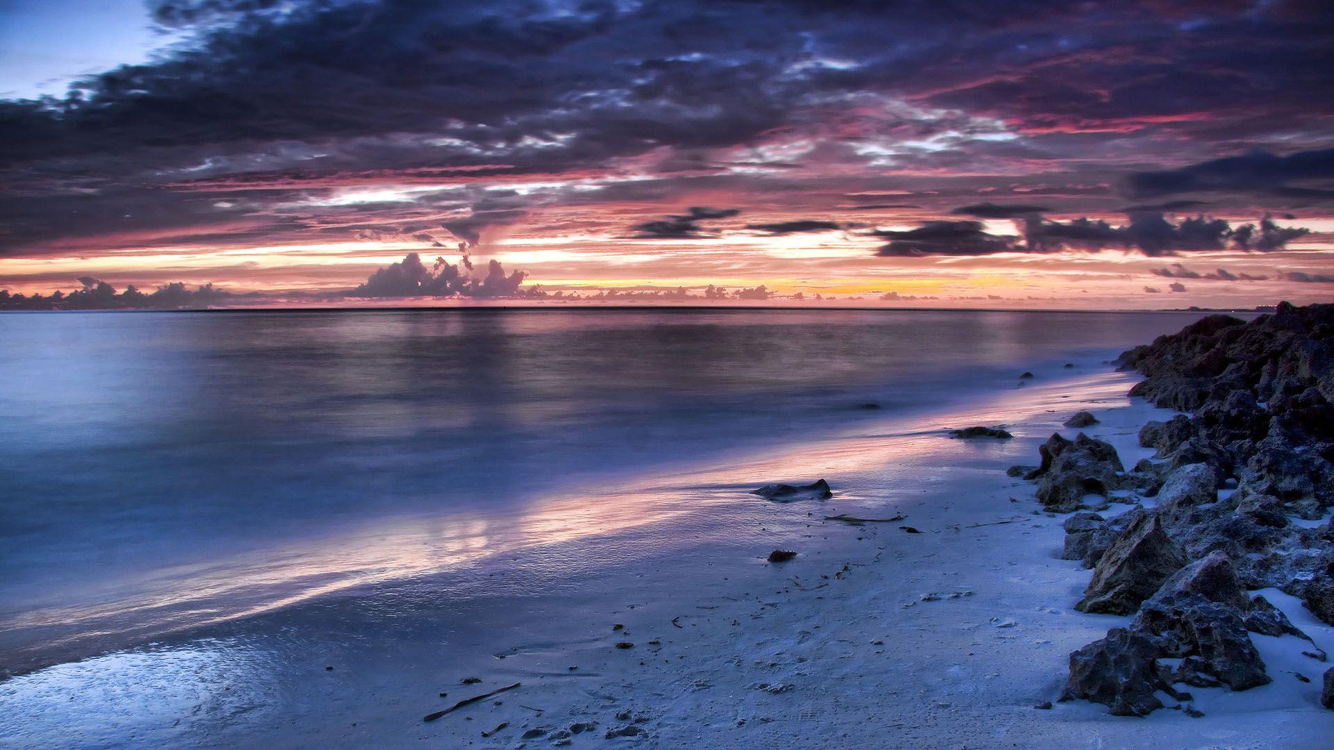 Night Time On The Beach Nature 4 Pinterest Beach Wallpaper