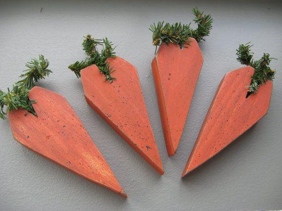 Primitive Summer Garden Carrots Bowl Fillers Ornies