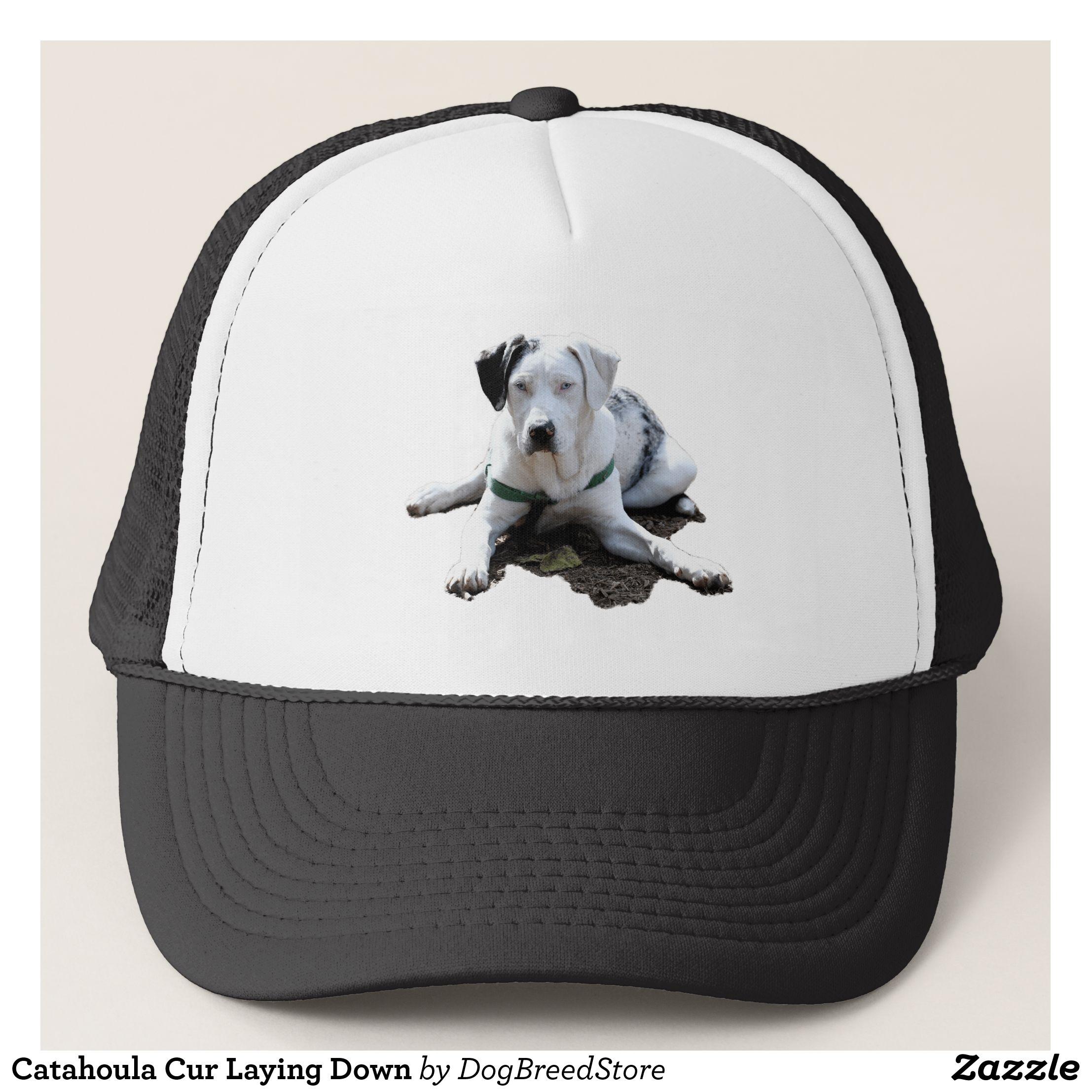 Catahoula Cur Laying Down Trucker Hat - Urban Hunter Fisher Farmer Redneck  Hats By Talented Fashion 953b36dbadd6