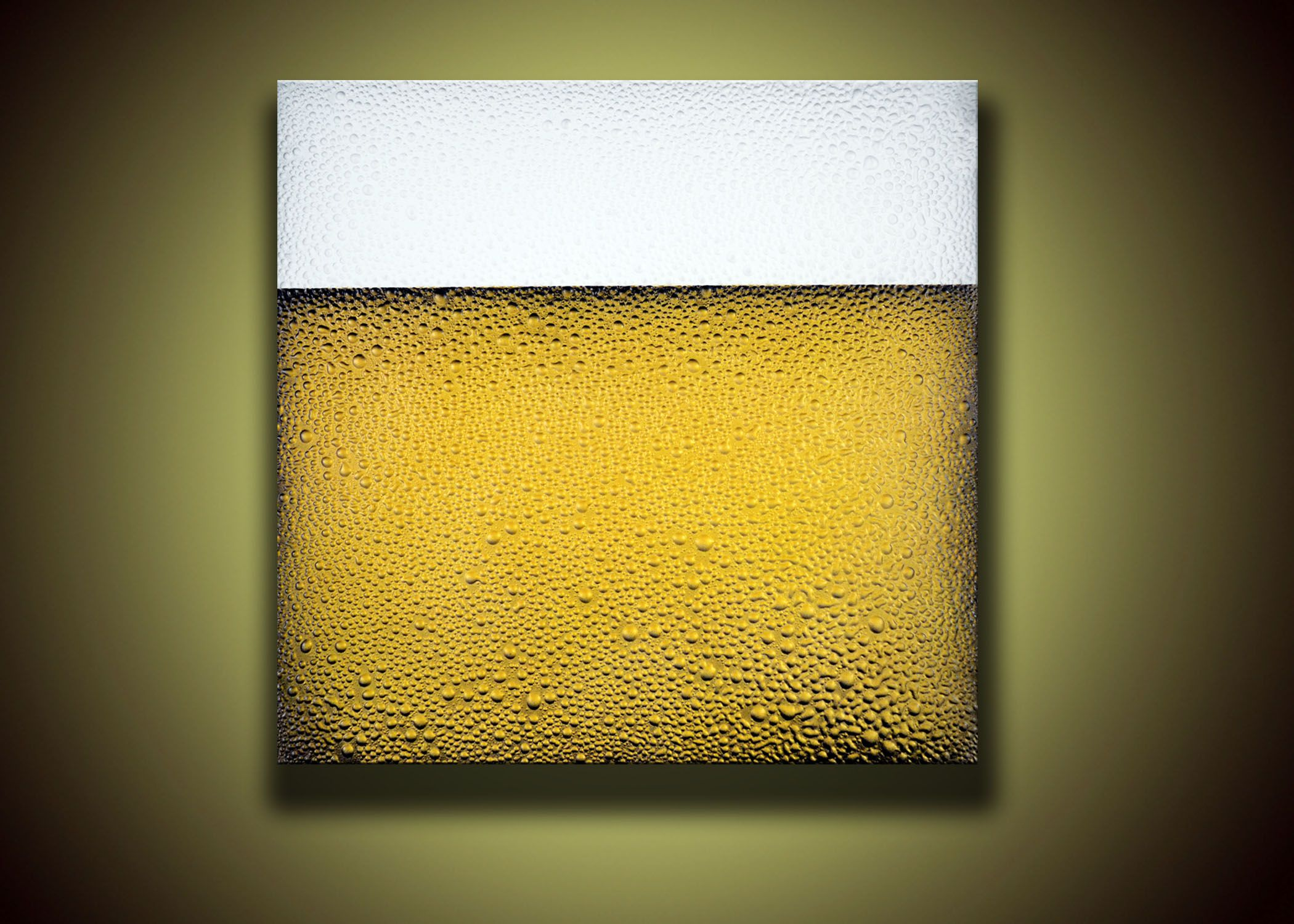 First ever real bubble beer painting! 2\' x 2\' wood canvas named ...
