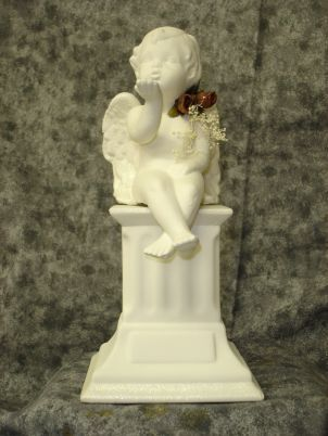 Cherub Blowing Kisses Centerpiece for Weddings and Showers