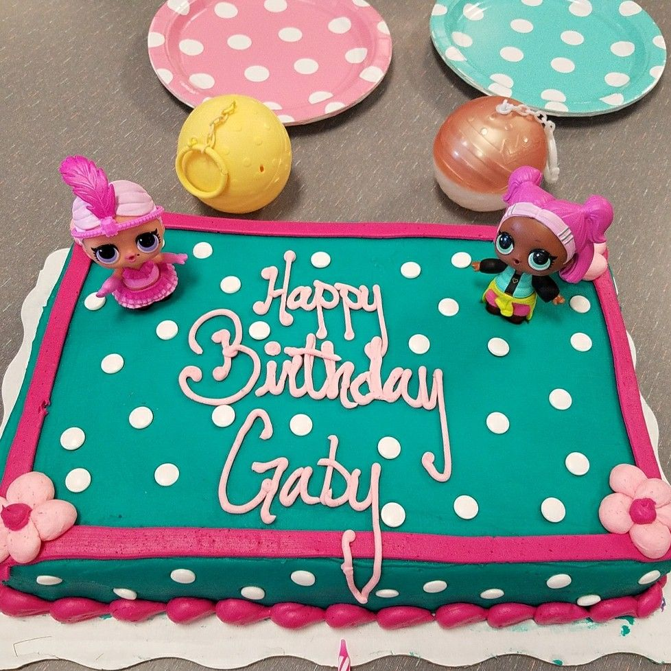 This is a WalMart Doc McStuffins birthday cake without