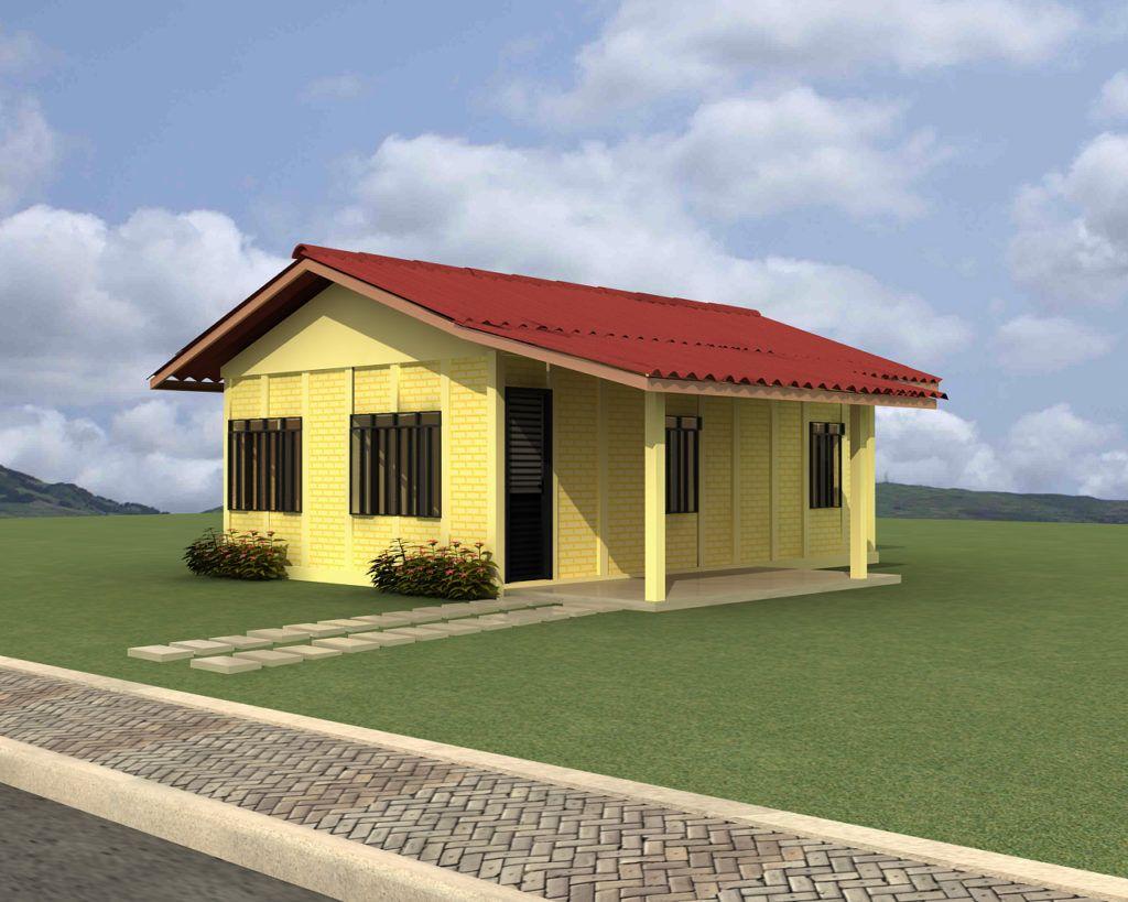 Casa pr fabricada em concreto de 54 m dulos base forte casas - Modulos de casas ...