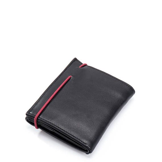 6464c2c8575 black leather wallet woman - womens wallet - black wallet - credit ...