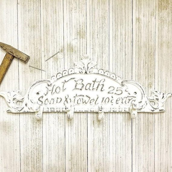 Rustic Bathroom Wall Decor Farmhouse Bathroom Sign Rustic