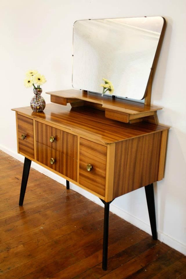 Stylish And Practical Contemporary Furniture For Every: Mid Century Atomic Era Dressing Table _ Oh My Goodness