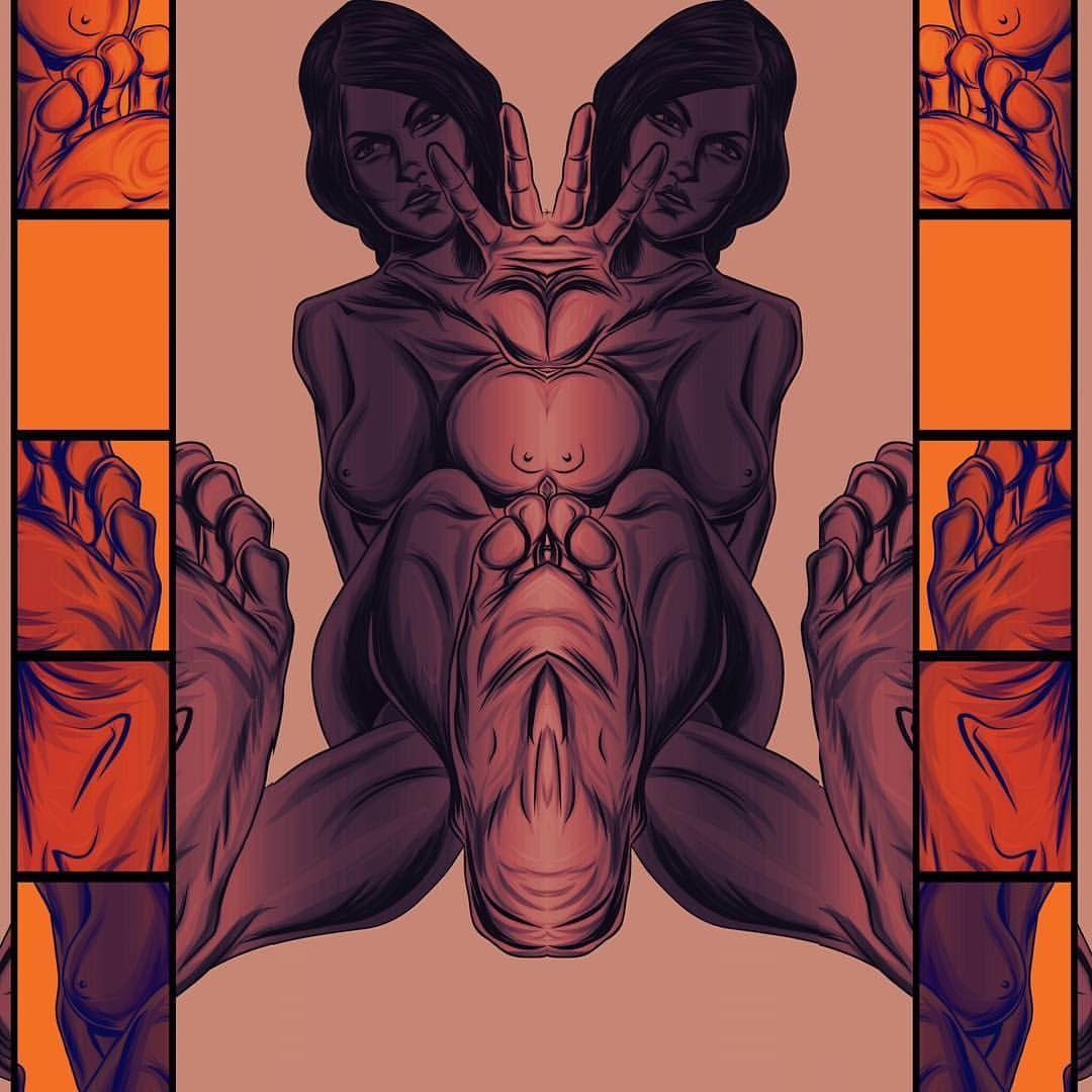 Siamesa #vectorart #female #eroticart #drawing ... | Under Construction