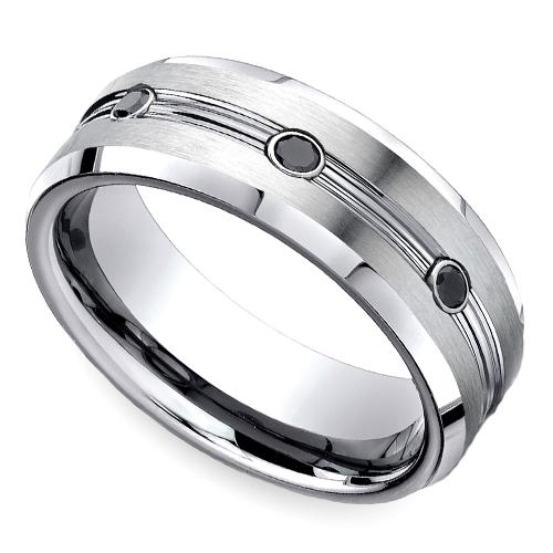 Black Diamond Men's Wedding Ring in Cobalt (7.5mm) Mens