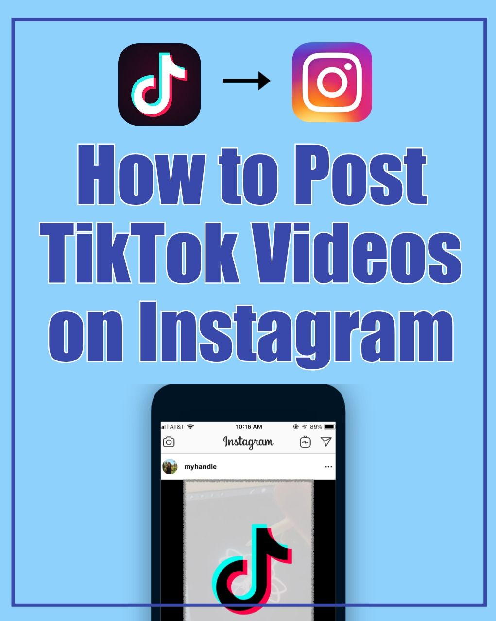 How to Post a TikTok Video on Instagram. In this tutorial