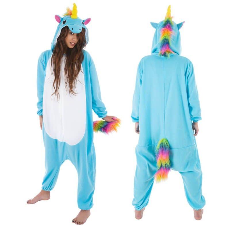 Partez dans un monde de fantaisie avec ce déguisement pour adulte Licorne  Bleue. Ah cette b2276107d794