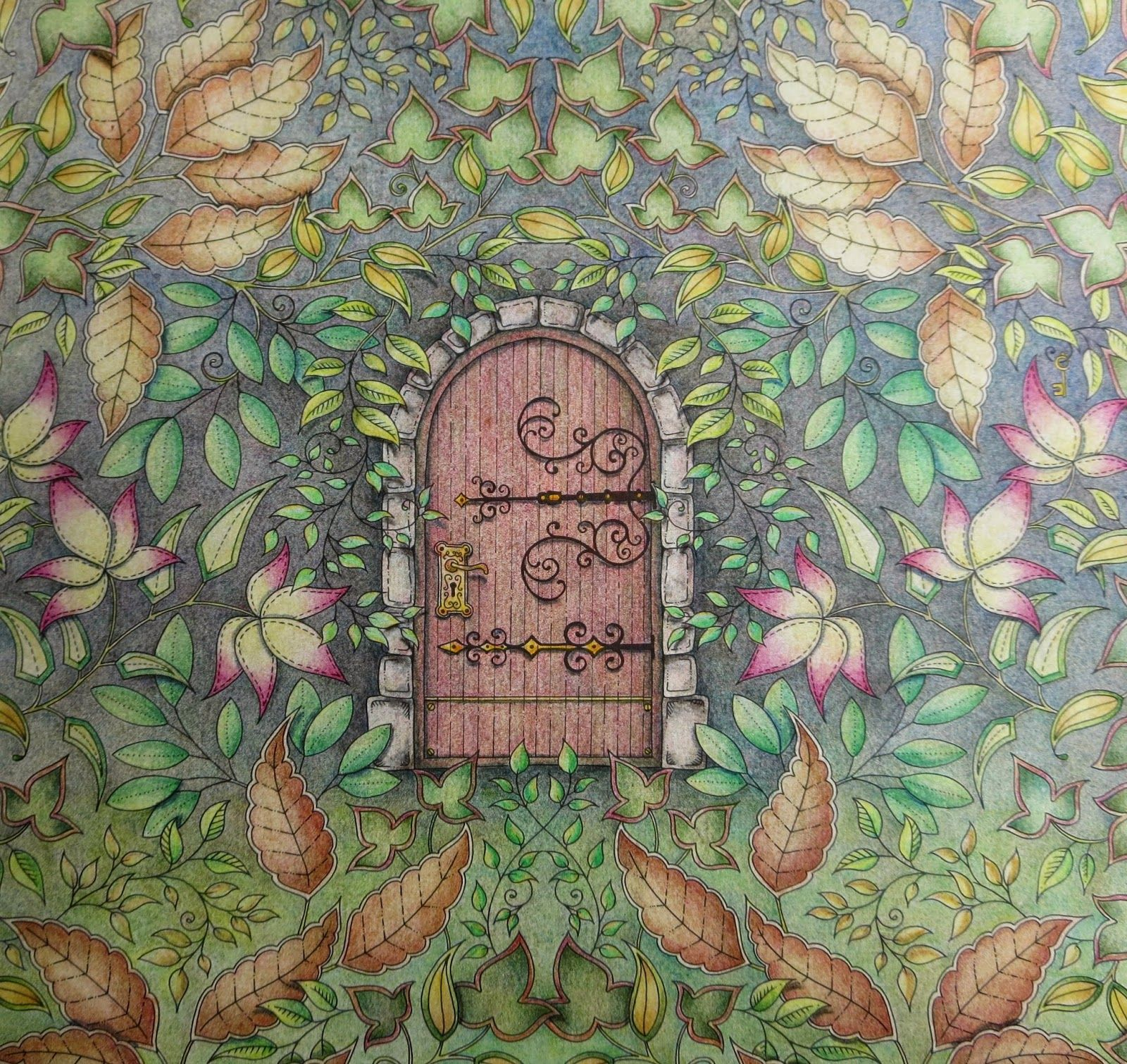 Secret Garden Colouring Book Finished Pages