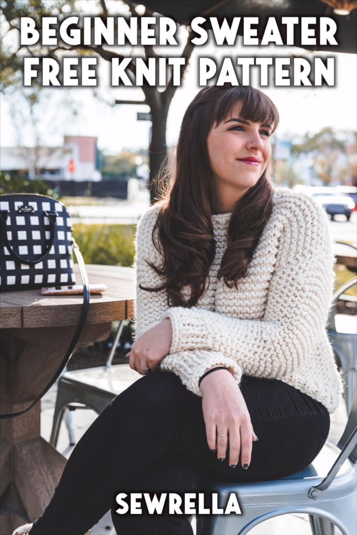Photo of Beginner Knit Sweater – free pattern