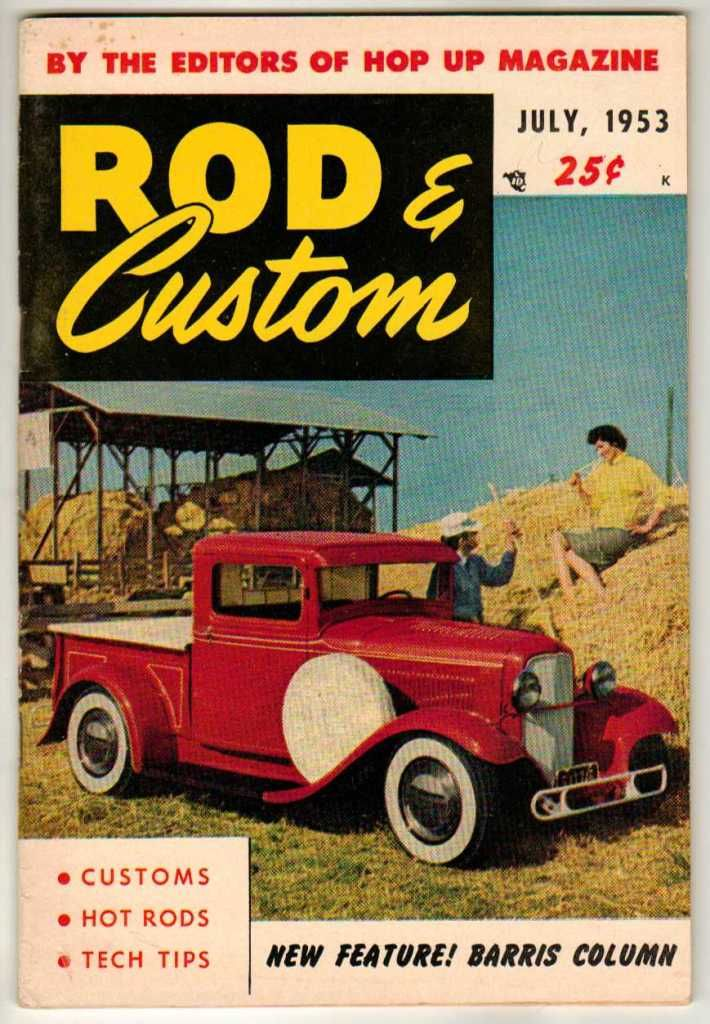 Rod & Custom Car Magazine July 1953 #3 Hot Old Vintage Classic 1932 ...