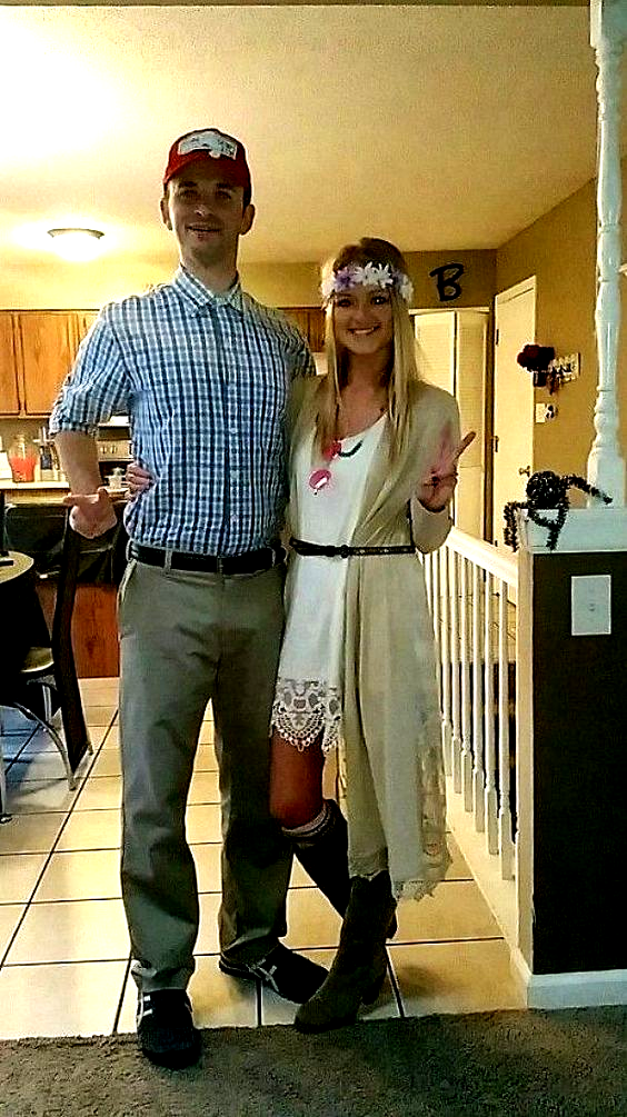 DIY Couples Halloween Costume Ideas Forrest Gump and