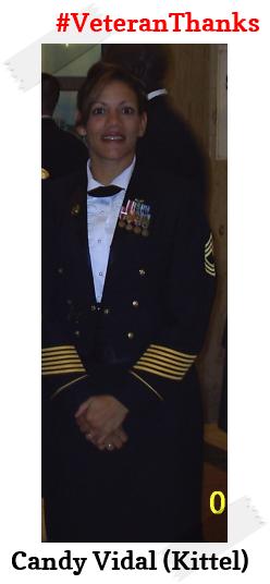 #PatrioticPulaski thanks Candy Vidal (Kittel) for her service! #VeteranThanks #PulaskiCountyUSA #ReuniteInPulaski #Army