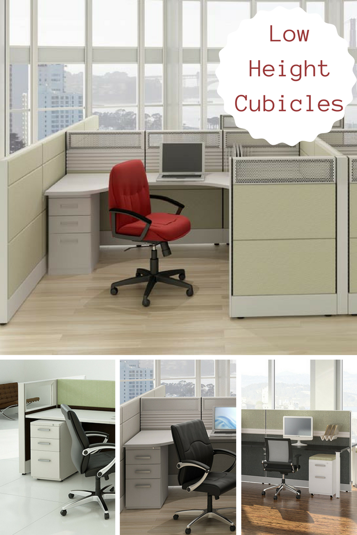Office Cubicles Stylish, Affordable Low Height Friant