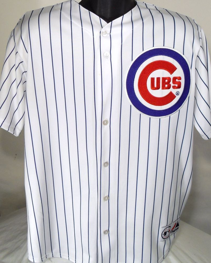 43227e46 Chicago Cubs Aramis Ramirez MLB Mens Size Large Striped Baseball Jersey # Majestic #ChicagoCubs