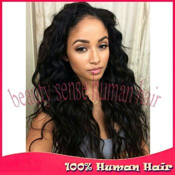 Wholesale virgin Loose Wave Full lace wig Glueless Indian remy Lace front human hair wigs for black women with natural hairline