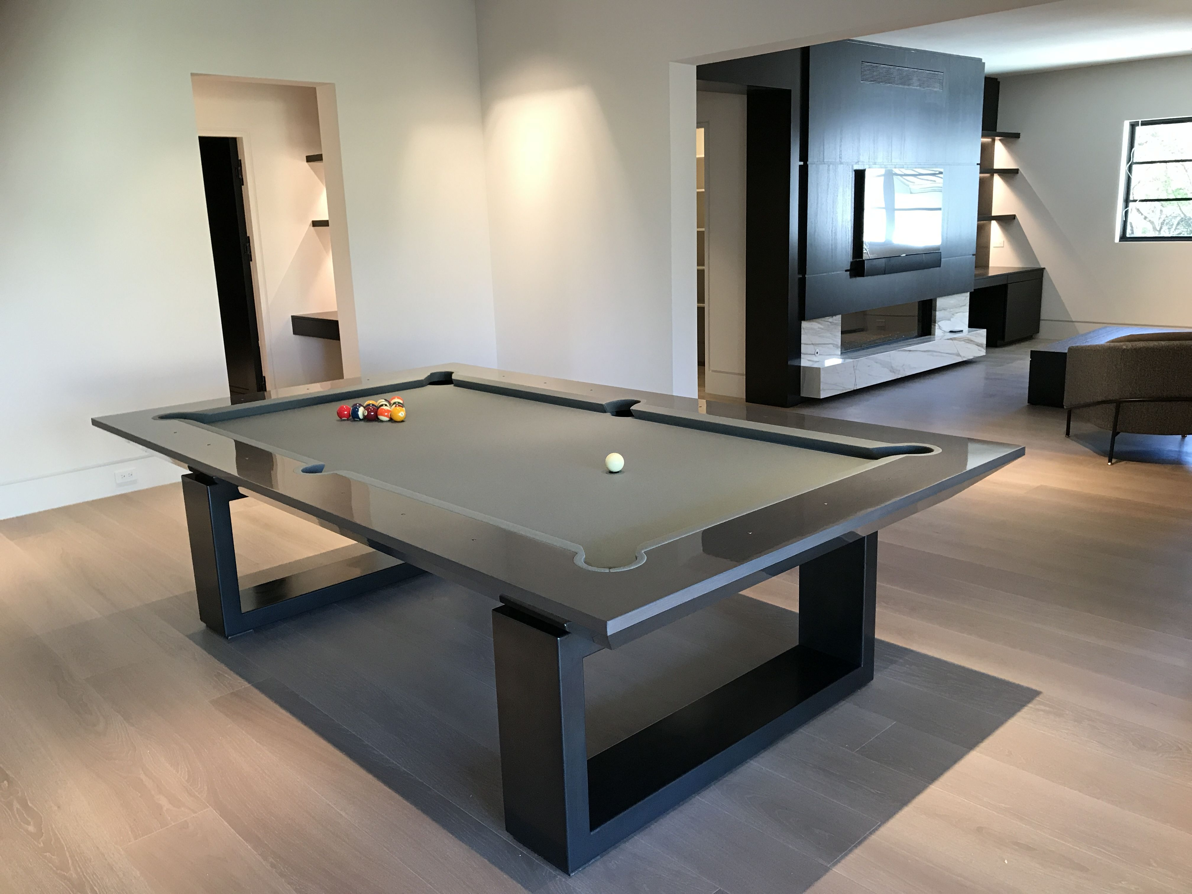 Black Pool Table | Modern pool table, Pool table, Pool table games