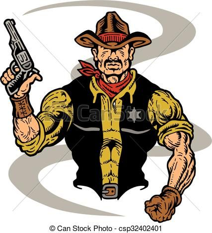 vector cowboy sheriff stock illustration royalty free rh pinterest com sheriff clipart free sheriff clipart gif